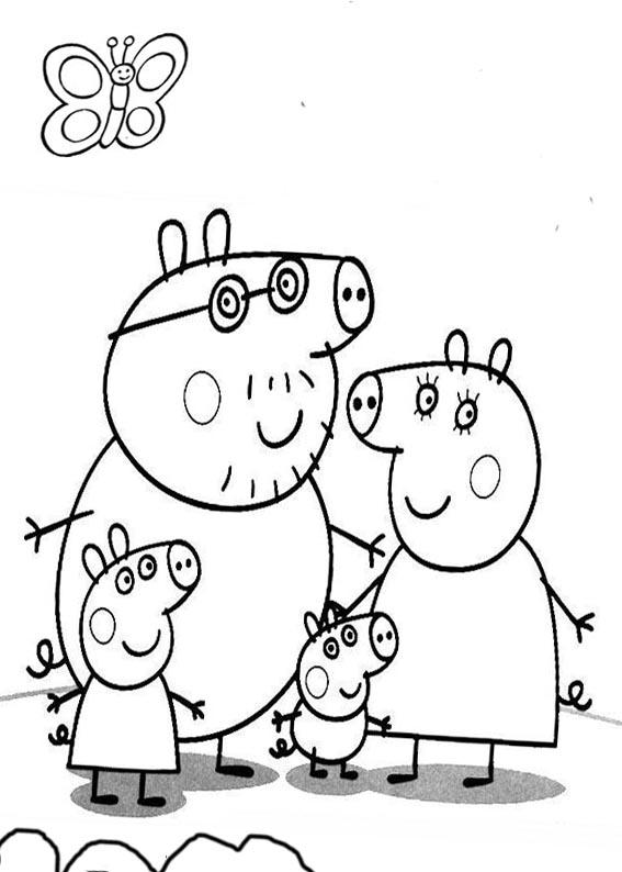 Раскраска Свинка Пеппа распечатать