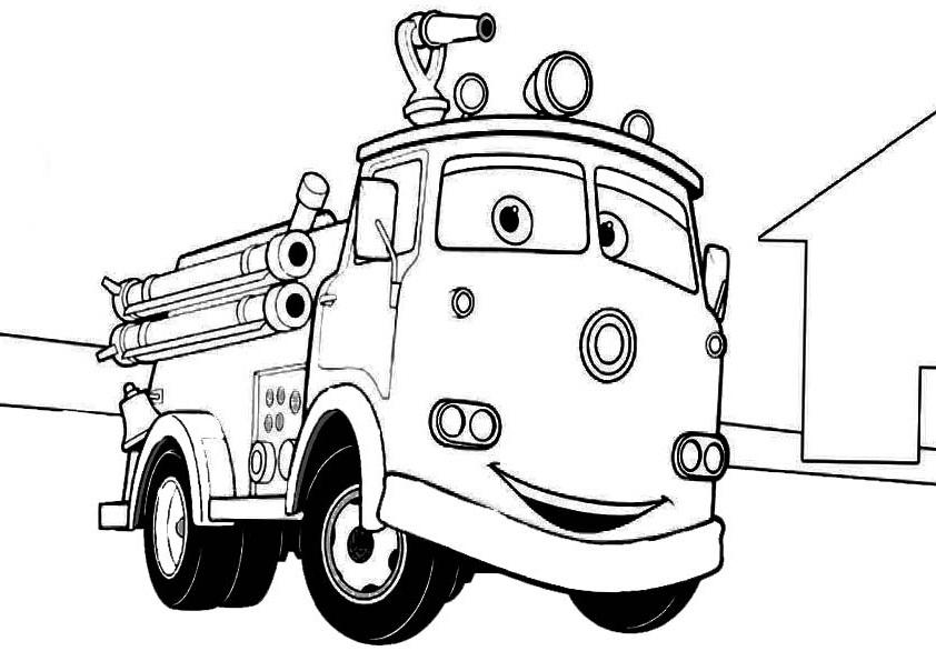 """Раскраски """"Пожарная машина"""" для детей"""