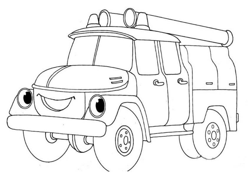 Машинка Раскраска Картинка Для Детей
