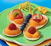 Детский десерт с фруктами «Бабочка»