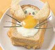 Детский бутерброд «Зайчик»