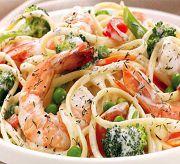 Салат с креветками «Вдохновенье»